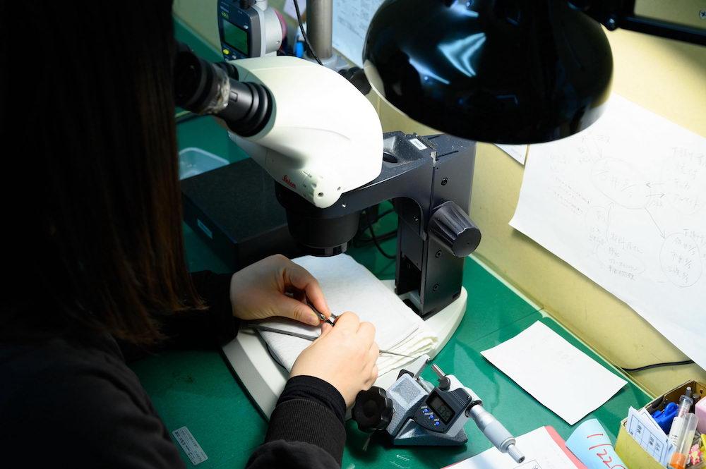 顕微鏡による確認
